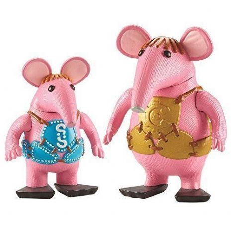 Clangers 2 Pack Of Figures - MAJOR & SMALL - NEW